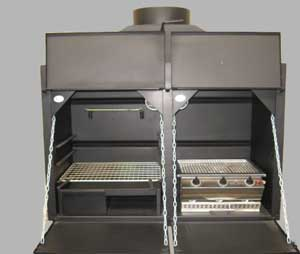 1200mm Combination braai with divider