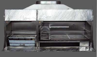 2050mm Combination braai - complete stainless steel