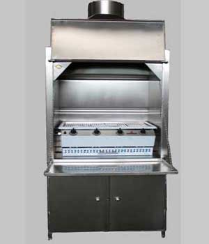 900mm Freestanding Braai with 4B Sizzler