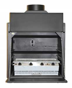 800 mm Built-in Braai with 4burner sizzler