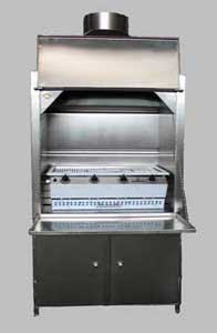 900 mm stainless steel Freestanding Braai with 4burner sizzler