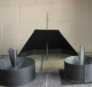 Mildsteel rotating cowl and bases