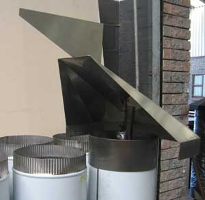 Stainless steel rotating cowl