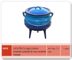 3Leg No3 Blue Pot