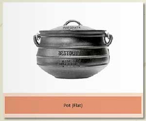 Cast-iron Flat pot